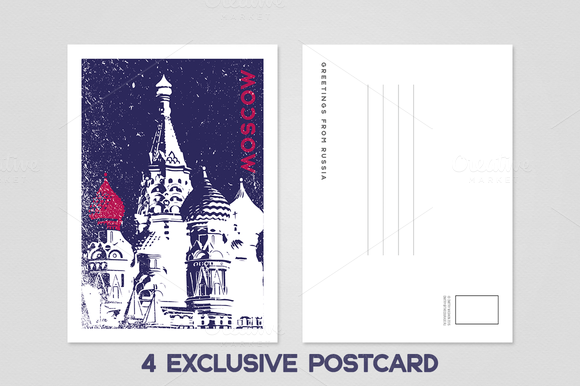 Greetings From Moscow Postcards
