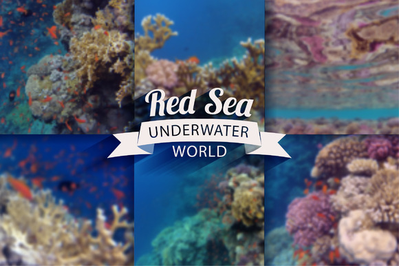 6 Underwater Blurred Backgrounds Set