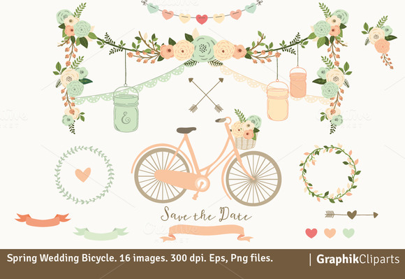 Spring Wedding Bicycle