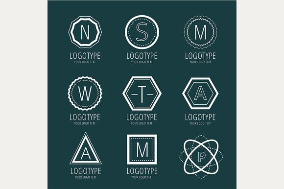 Abstract Vector Vintage Logo Design