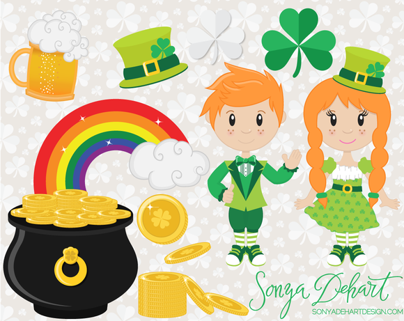 Saint Patrick S Day Clip Art Set