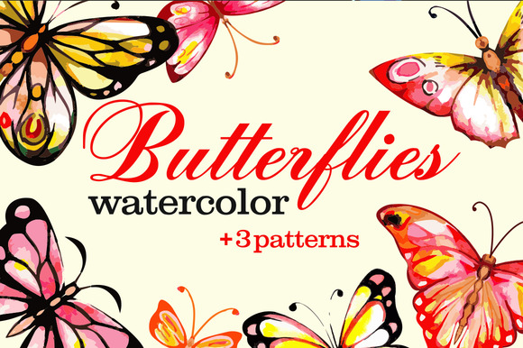 Watercolor Batterflies