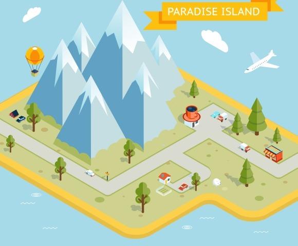 Travel Banner Paradise Island