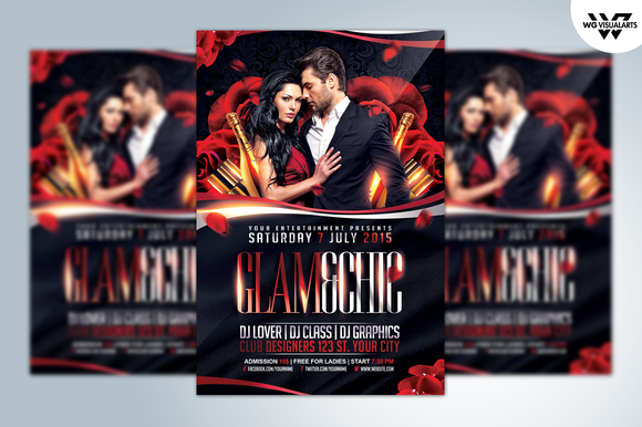 GLAM CHIC Flyer Template