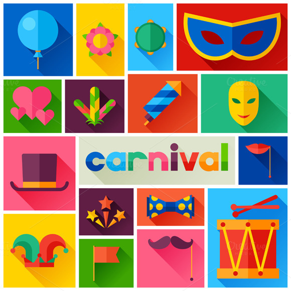 Backgrounds With Carnival Icons