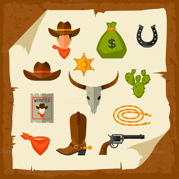 Cowboy Objects And Elements