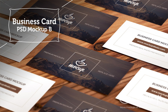 Business Card Grid Layout Mockups B