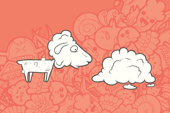 Cute Hand Drawn Sheep