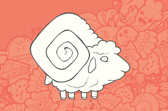 Hand Drawn Sheep Greeting Card