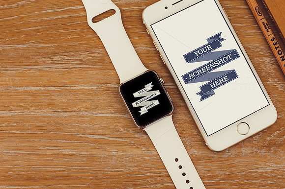Apple Watch IPhone 6 Device Mockup