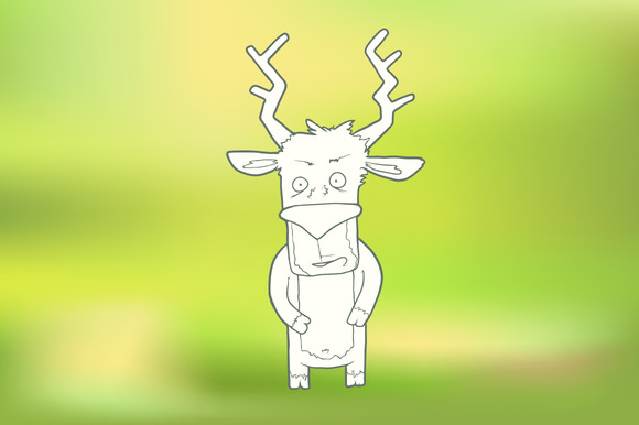Hand-drawn Cute Deer