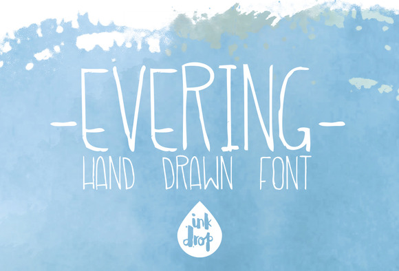 Evering Handmade Font