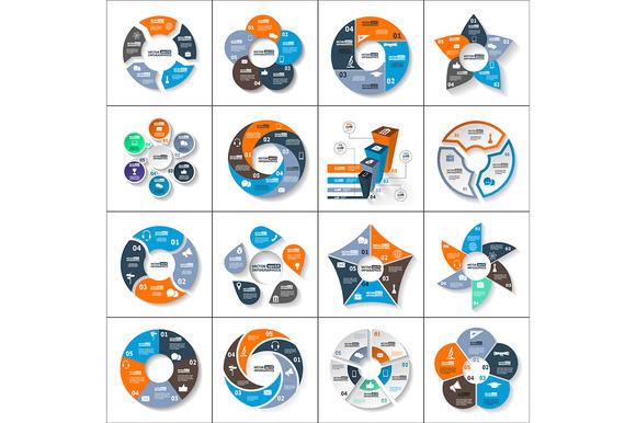 Modern Paper Infographics Set