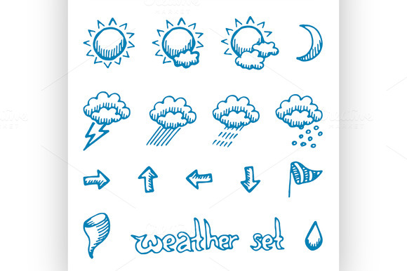 Weather Symbols Set