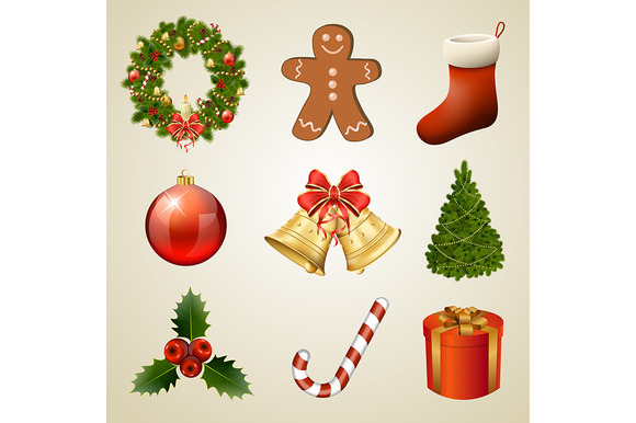 Christmas Design Elements And Icons