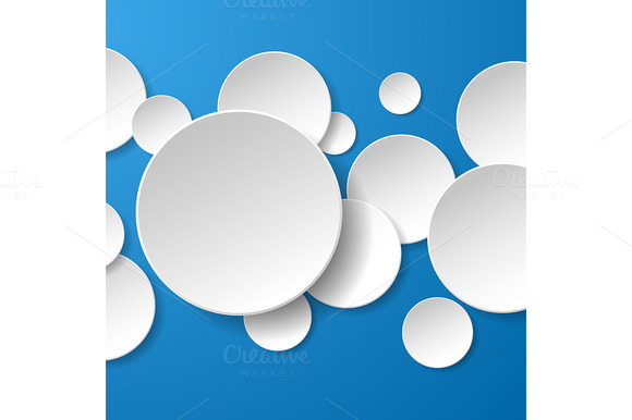 Abstract White Paper Circles