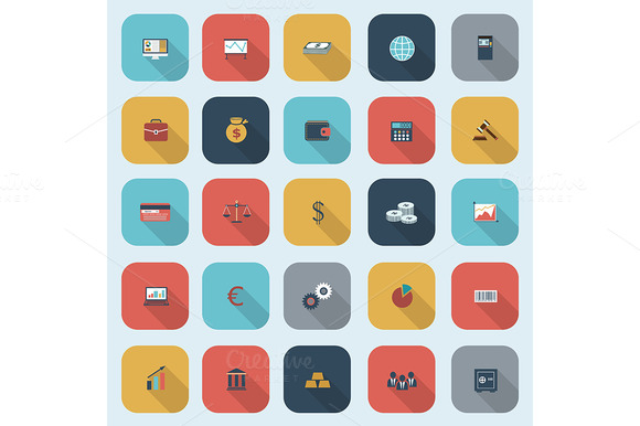 Simple Finance Icons Set