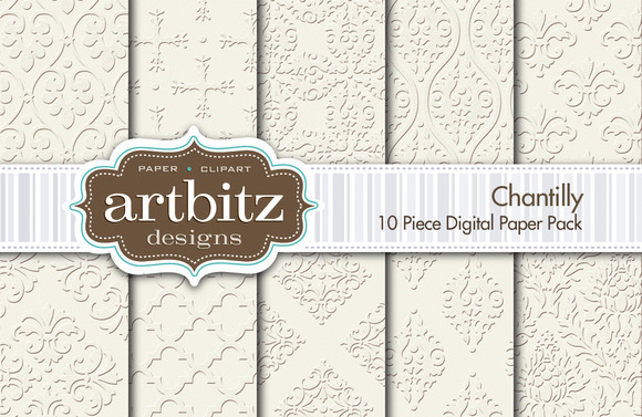 Chantilly Digital Paper 10 Piece