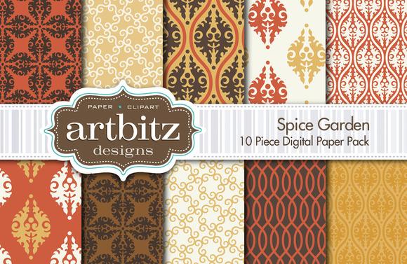 Spice Garden Digital Paper 10 Piece