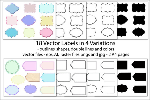 Vector Labels Pastel Color