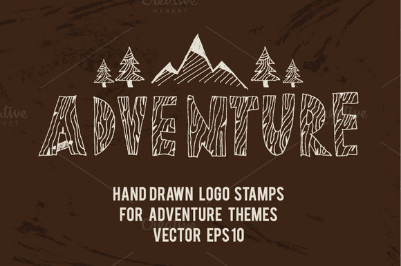 Logo Stamps For Adventure Themes