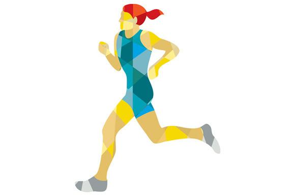Female Triathlete Marathon Runner Lo