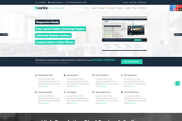 Boxite Corporate Joomla Template