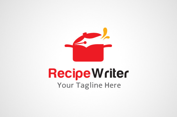 Recipe Writer Logo Design Icon