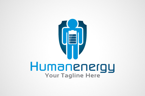 Human Energy Logo Design Icon