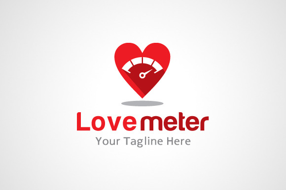 Love Meter Logo Design Icon