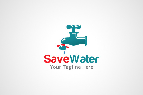 Save Water Logo Design Icon