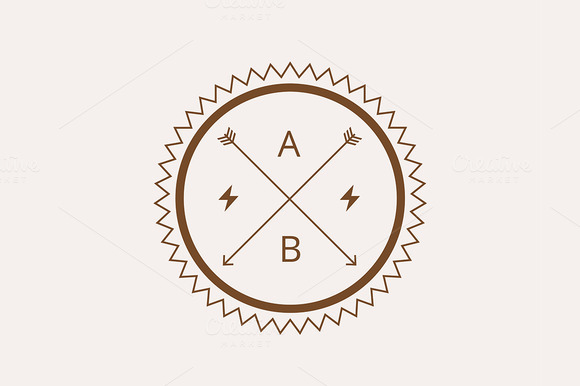 Hipster Vector Vintage Logo Element