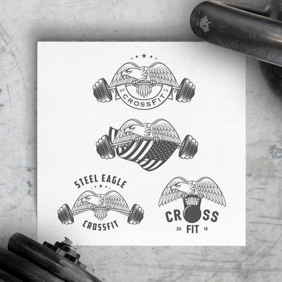 Vintage American Crossfit Emblems