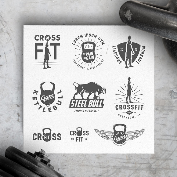 Vintage Crossfit Gym Design Elements