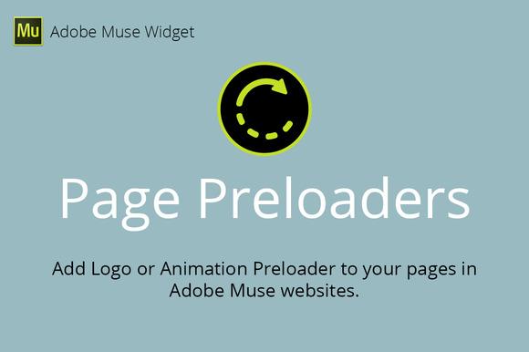 Page Preloaders Adobe Muse Widget