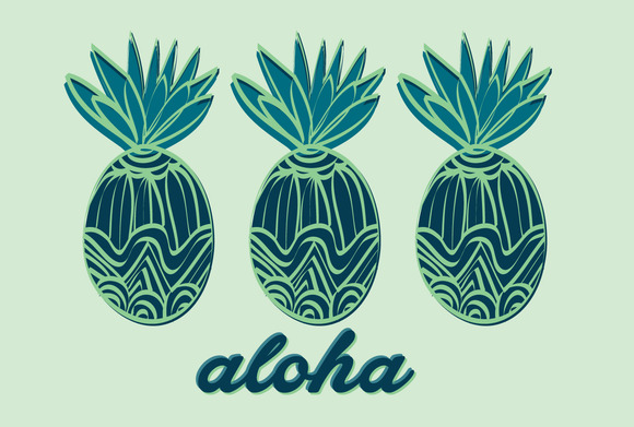 Pineapple Illustration Vector