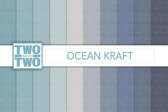 Beach Kraft Digital Paper