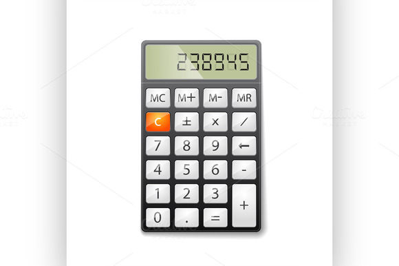 Metallic Office Calculator Excellen