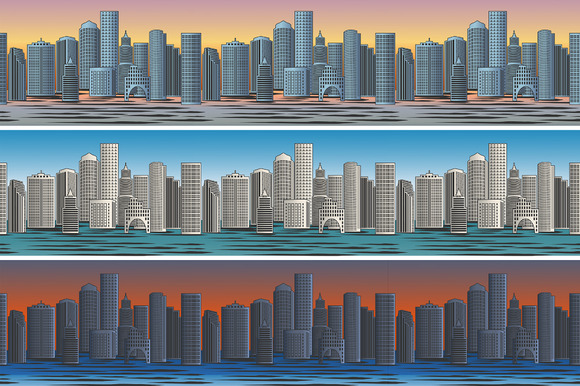 Set Of City Skylines Pattern