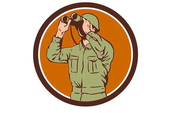 World War One American Soldier Binoc