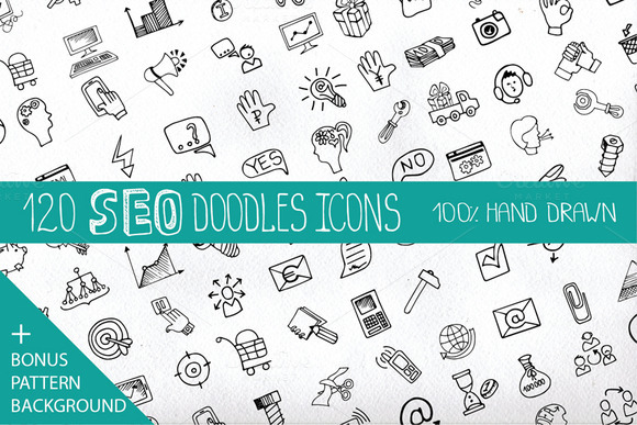 Doodle Business SEO Icons Set