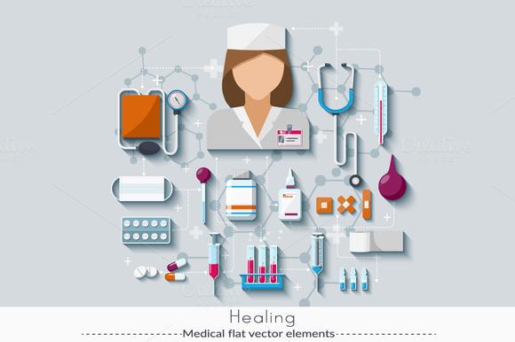 Set Of Medical Elements 5.0