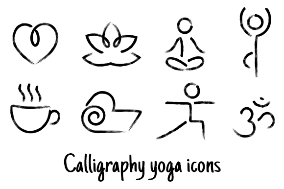 Calligraphy Yoga Icons