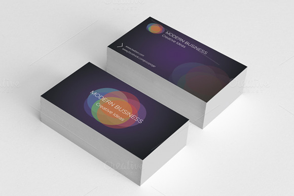 Minimal Colored Business Card Vol.3