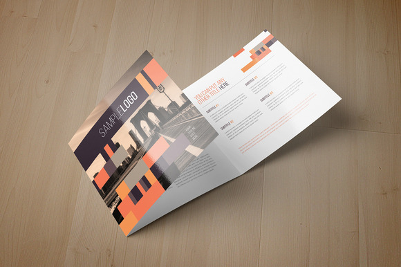 Minimal Square Trifold Brochure