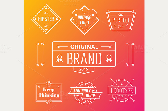 Vector Vintage Logo Elements Set
