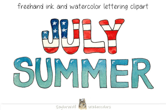 July And Summer Freehand Lettering