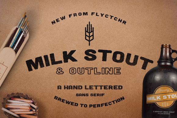 Milk Stout Font