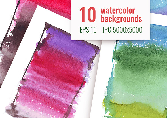 10 Watercolor Backgrounds