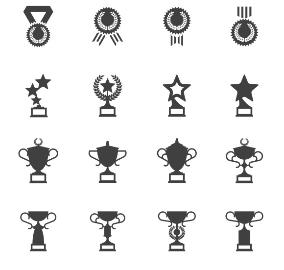 Awards Medals And Cups Icons